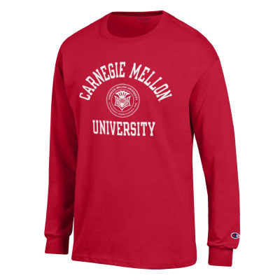 Image For <ls>CMU Seal Long Sleeve Tee: Cardinal