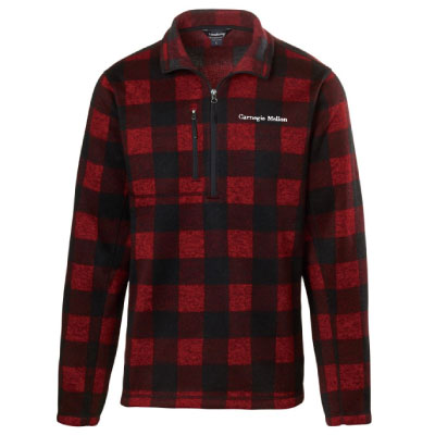 Image For <jacket>Buffalo Plaid 1/4 Zip Jacket: Red