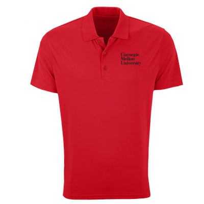 Image For <polo>Omega Solid Mesh Tech Polo: Red