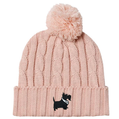 Image For <knit>Cable Knit Beanie: Rose