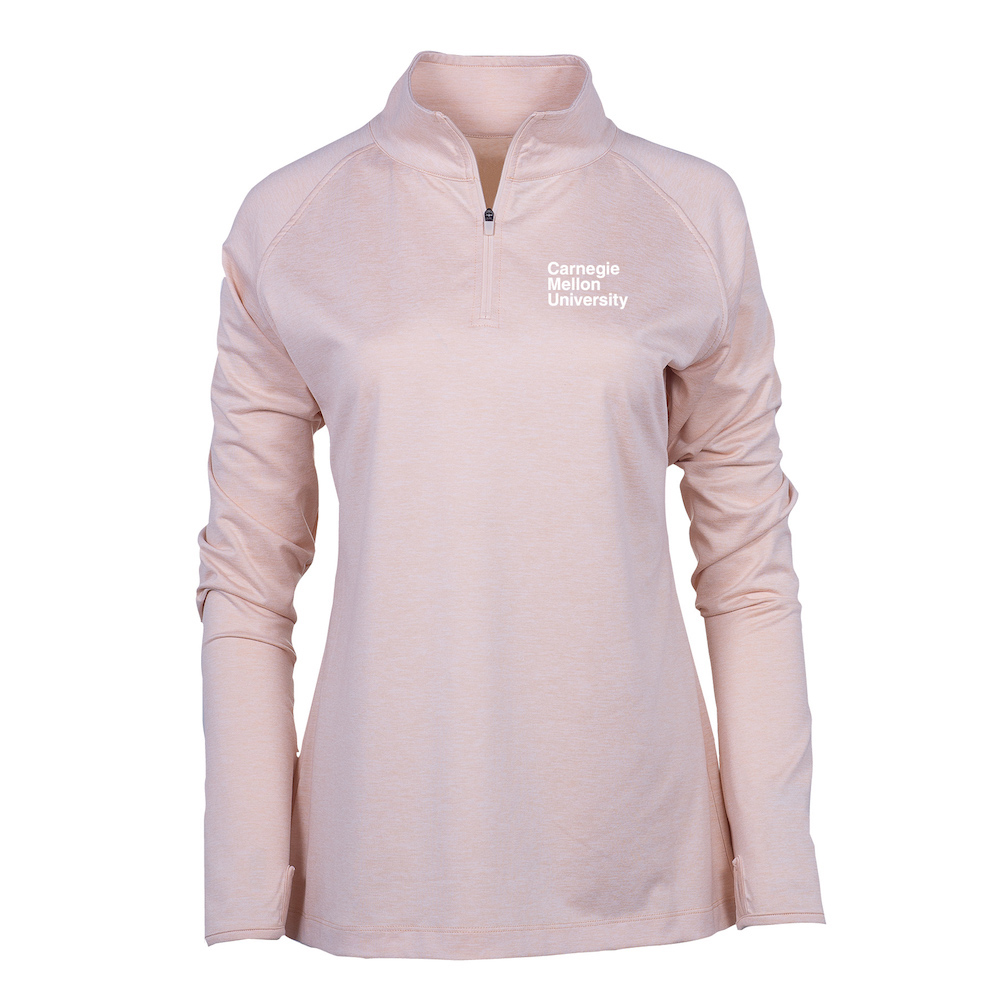 Image For <qz>Swerve 1/4 Zip: Blush Pink