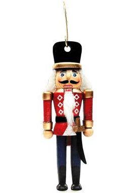 Image For <ornament>Ornament: Wooden Kiltie Nutcracker