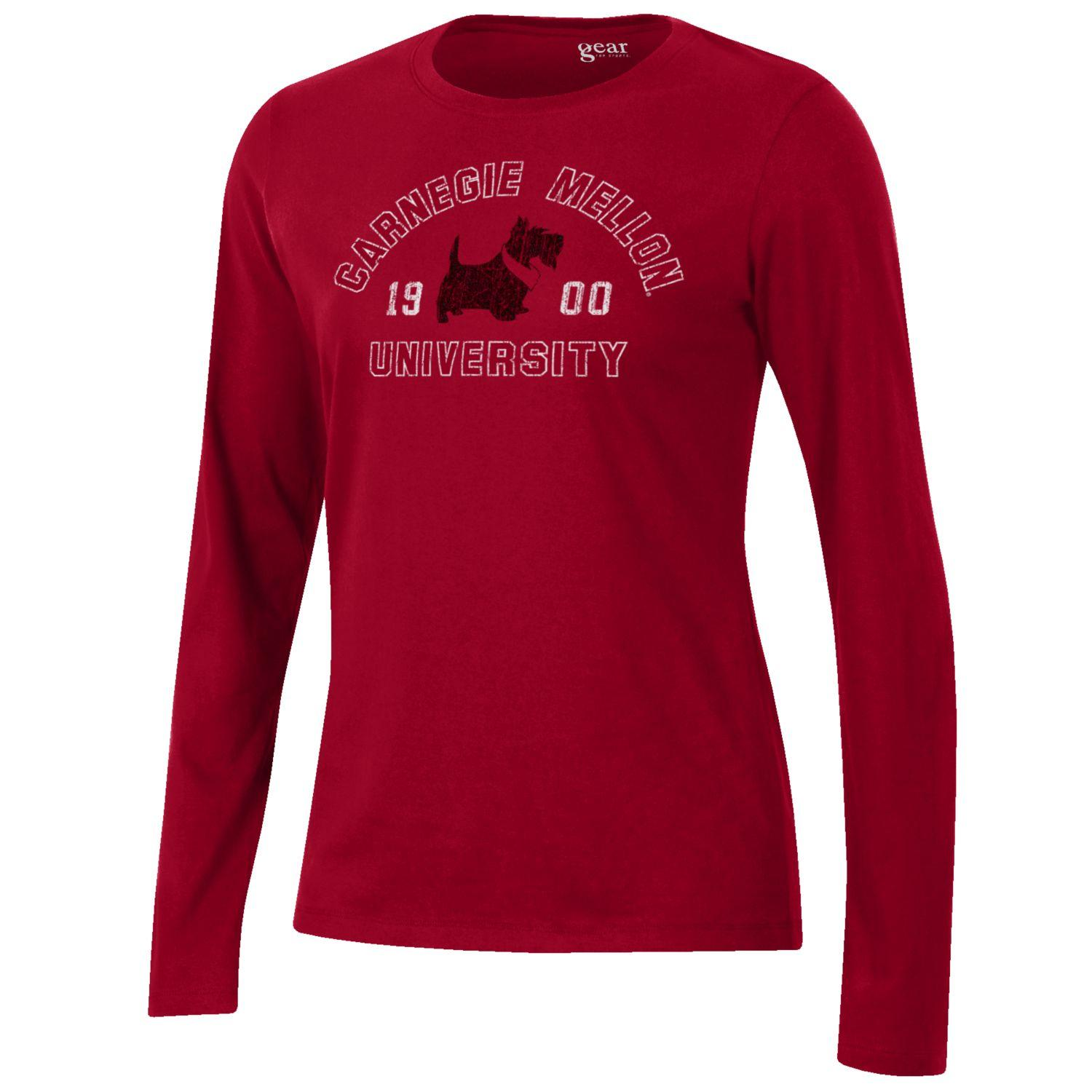 Image For <ls>Scotty Long Sleeve Tee: Red
