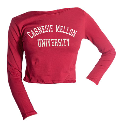 Image For <ls>Long Sleeve Crop: Cardinal