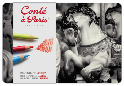 Image For CONTE: Pastel Pencil Set, set of 12 or 24
